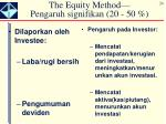 the equity method pengaruh signifikan 20 50