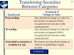 transferring securities between categories