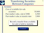 transferring securities between categories2