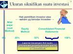 ukuran siknifikan suatu investasi1