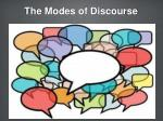 the modes of discourse