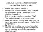 executive careers and compensation surrounding takeover bids3