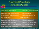 analytical procedures for notes payable1
