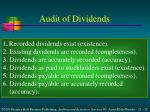 audit of dividends