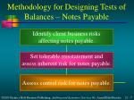 methodology for designing tests of balances notes payable