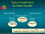 types of audit tests for notes payable1