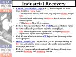 industrial recovery