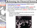 reforming the financial system