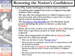 restoring the nation s confidence
