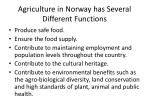 agriculture in norway has several different functions