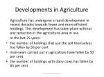 developments in agriculture