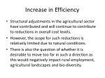 increase in efficiency