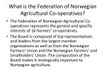 what is the federation of norwegian agricultural co operatives