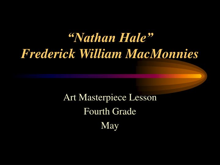 nathan hale frederick william macmonnies n.