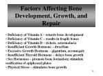 factors affecting bone development growth and repair