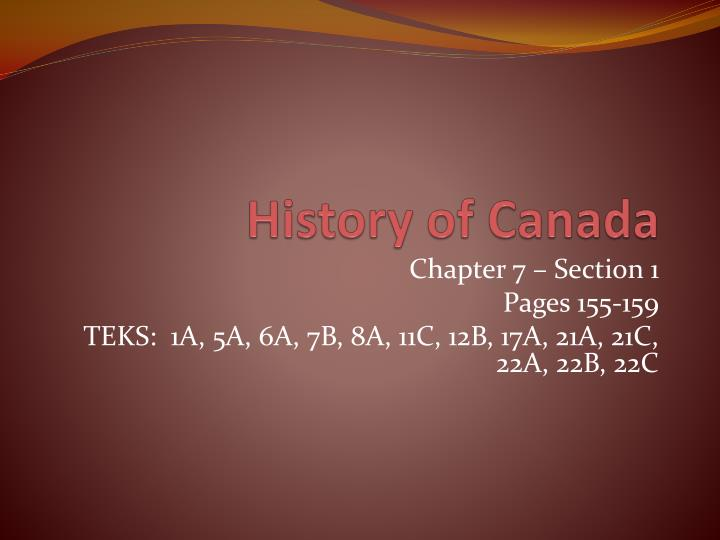 history of canada n.