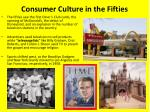 consumer culture in the fifties