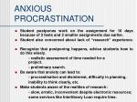 anxious procrastination