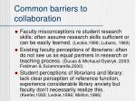 common barriers to collaboration
