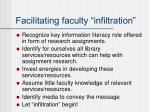 facilitating faculty infiltration