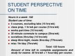 student perspective on time