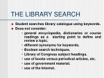 the library search