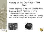 history of the op amp the shift1