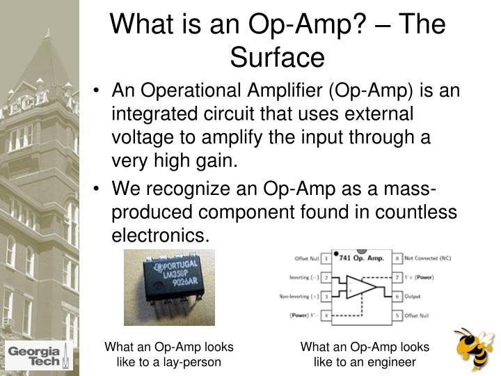what is an op amp the surface n.