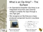what is an op amp the surface