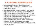 6 1 2 digital certificates