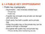 6 1 4 public key cryptography