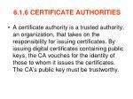 6 1 6 certificate authorities