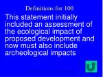 definitions for 100