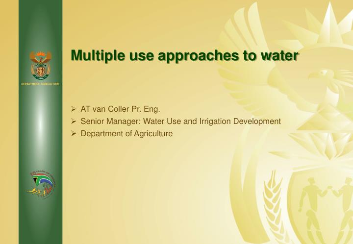 multiple use approaches to water n.