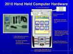 2010 hand held computer hardware