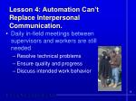 lesson 4 automation can t replace interpersonal communication
