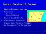 steps to conduct u s census
