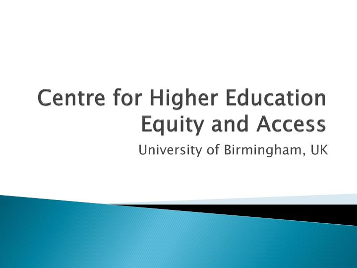 centre for higher education equity and access n.