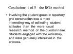 conclusions 1 of 5 the rga method