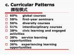 c curricular patterns