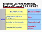 essential learning outcomes past and present