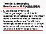 trends emerging practices in u s