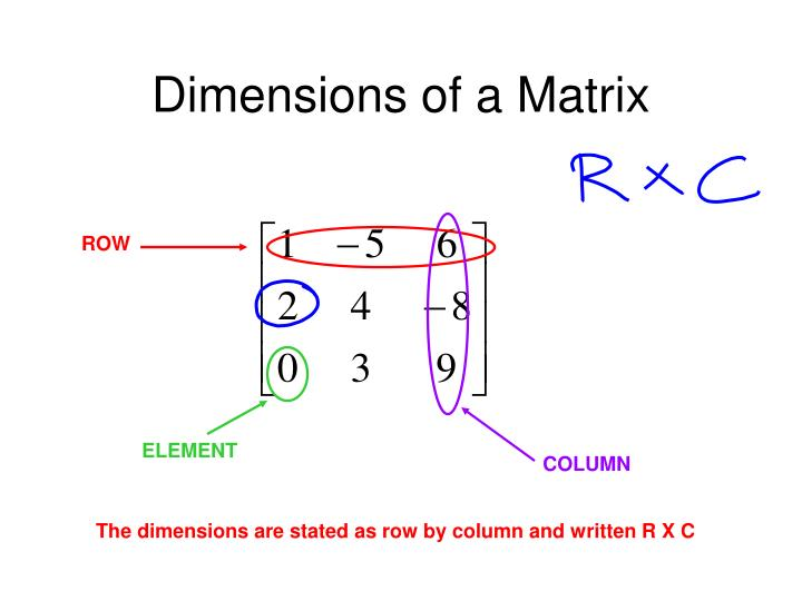 Dimensions of a Matrix