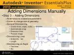adding dimensions manually