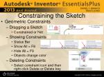 constraining the sketch1