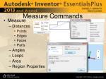measure commands