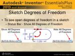 sketch degrees of freedom