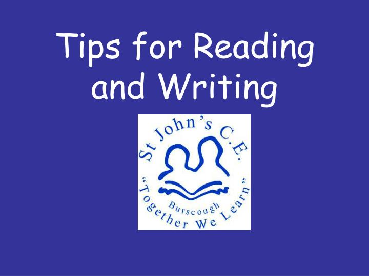 tips for reading and writing n.