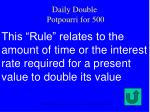 daily double potpourri for 500