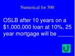oslb after 10 years on a 1 000 000 loan at 10 25 year mortgage will be